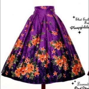 Deadly Dames Tiki skirt in purple